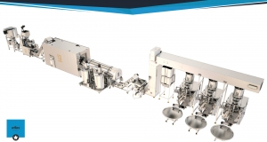 Corn chips production line project for 200 kg equipped with a three-la..