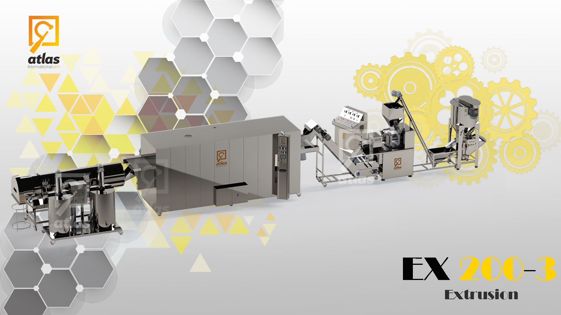 EX200-3  - Corn snacks production line with Advanced Oven
