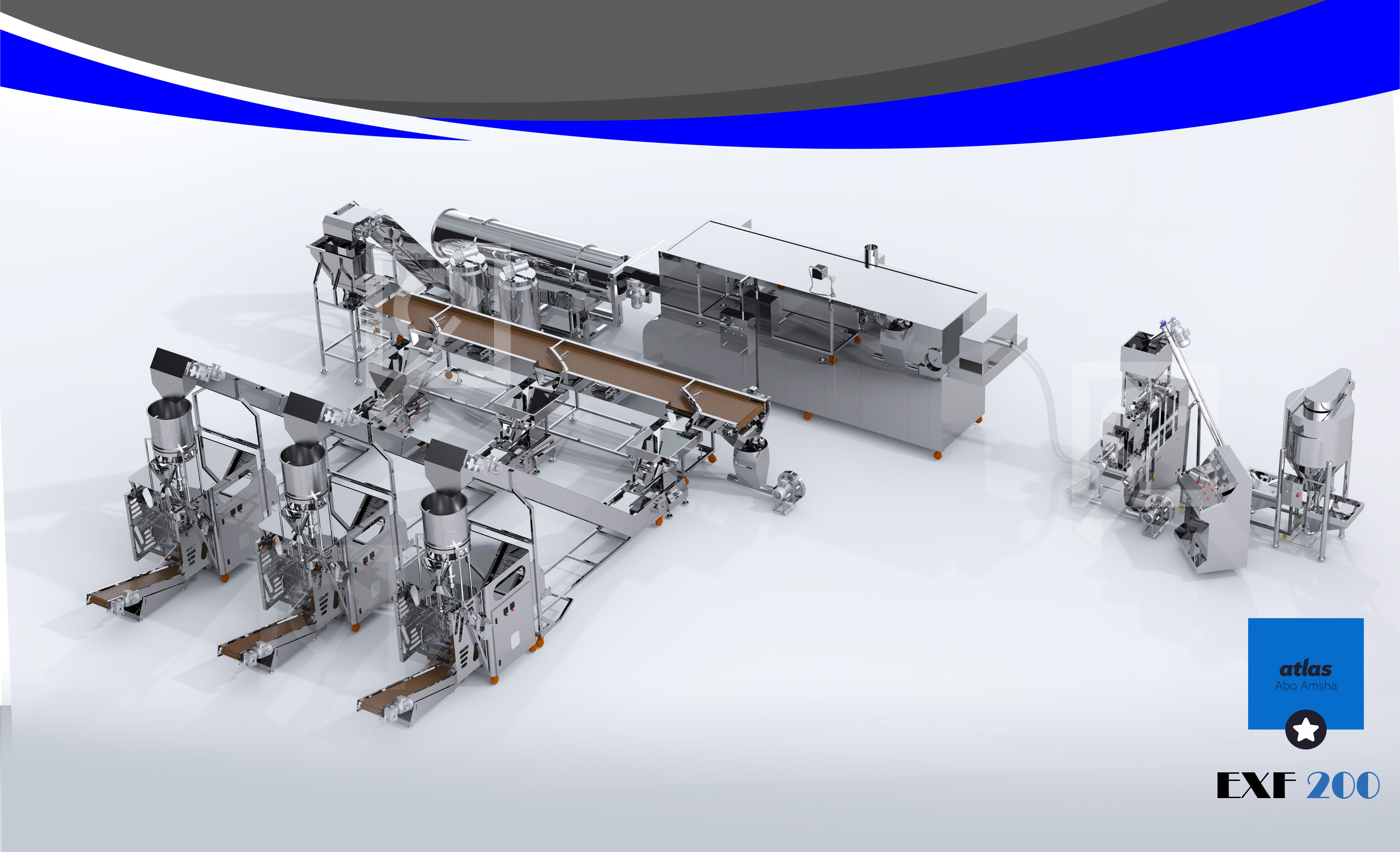 First Project Full Automatic Chips Production & Filling Line EXF 200