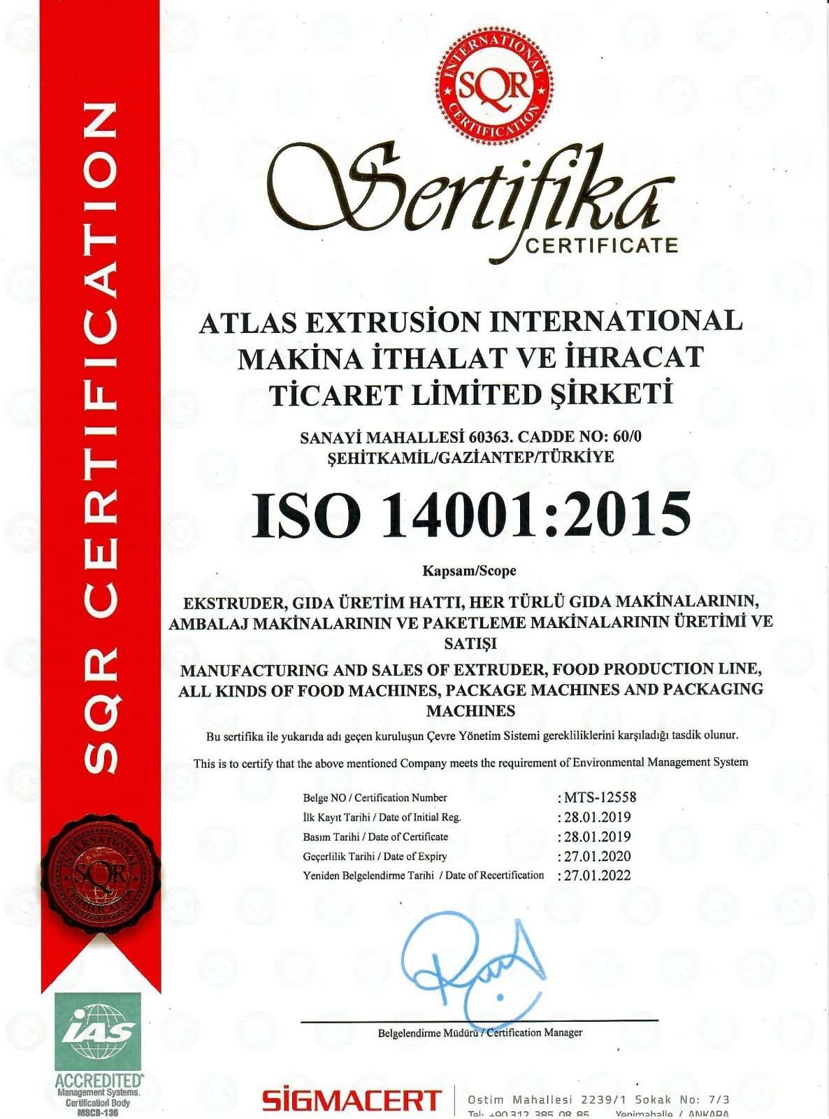 ايزو 14001:2015