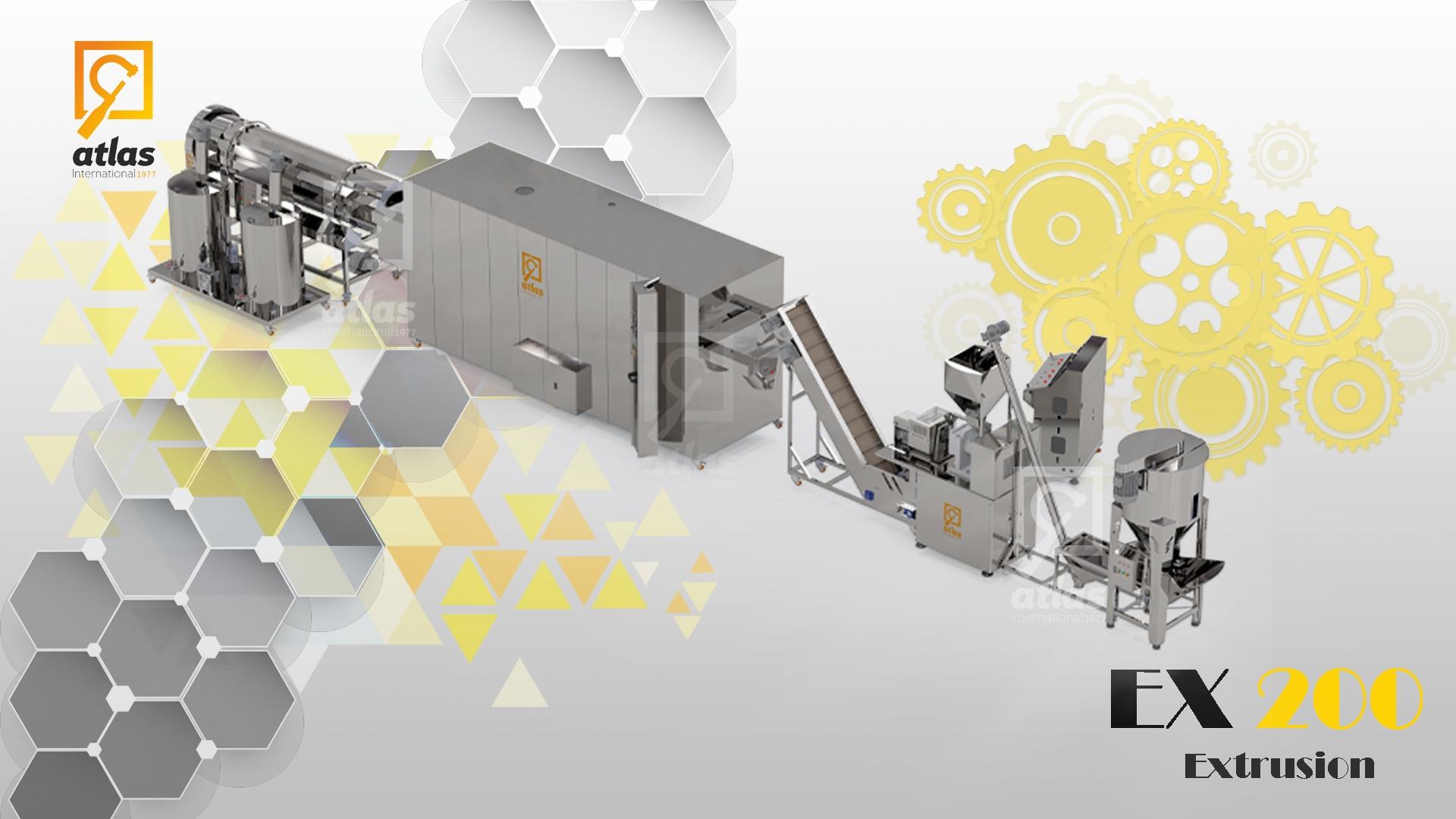 خط إنتاج شيبس الذرة EX 200