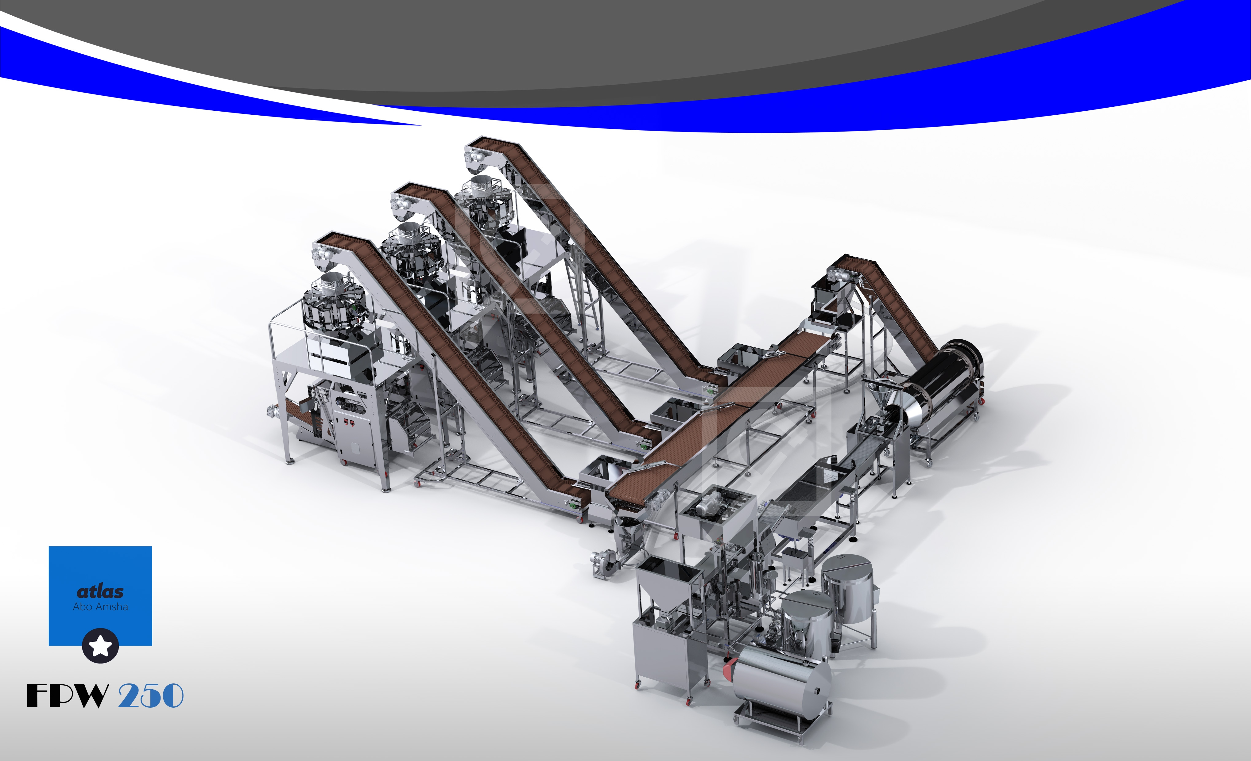 Third Project Full Automatic Pillit Frying & Filling Line FPW 250